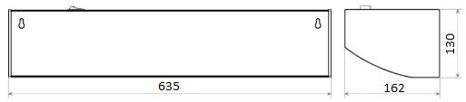 габариты тепловой завесы Тропик M3