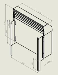 Монтаж конвектора на кронштейны