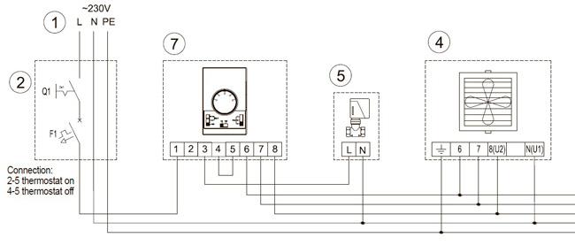 схема подключения агрегата Волкано к регулятору DX и клапану с сервоприводом