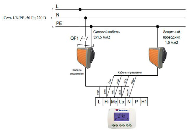Подключение 2 тепловентиляторов к 1 пульту HL10