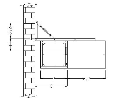 Установка Тепломаш КЭВ-28TCG на стене с помощью консоли