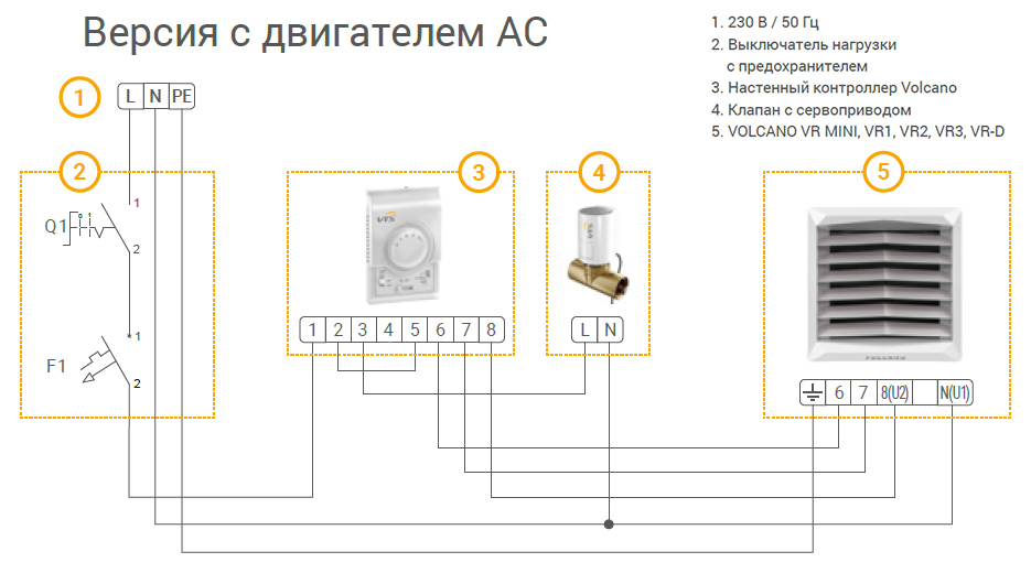 Схема для версии с АС двигателем