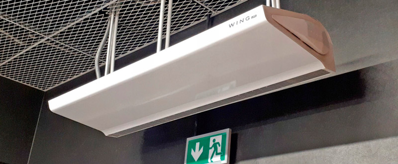 тепловая завеса для входной двери Wing W150 AC